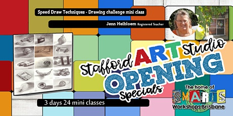 Stafford  Art Studio - Mini Class - Speed Drawing Challenge tickets