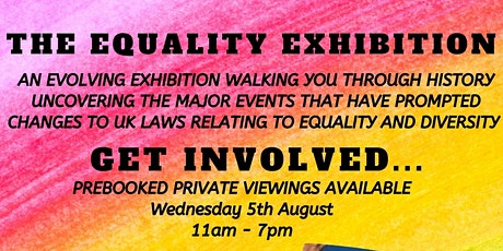 THE EQUALITY EXHIBITION - MAYFAIR August 2020 tickets