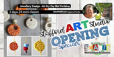 Stafford  Art Studio - Mini Class - Jewelry Air Dry Clay Pendant tickets
