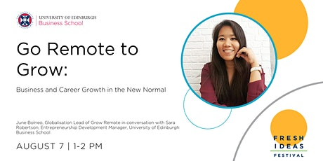 Go Remote to Grow: Business and Career Growth in the New Normal tickets