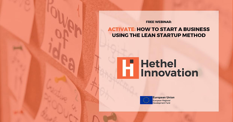 Start a Business Using the Lean Startup Method – Webinar