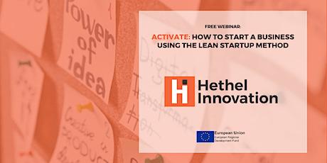 Start a Business Using the Lean Startup Method - Webinar tickets