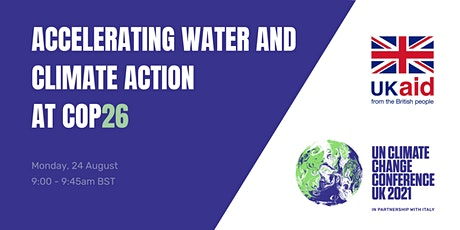 Accelerating Water and Climate Action at COP26 tickets