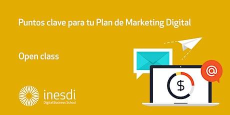 Puntos clave para tu Plan de Marketing Digital tickets