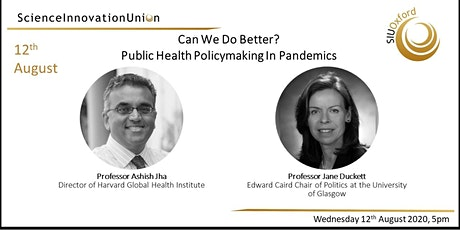 Can We Do Better?  Public Health Policymaking In Pandemics tickets