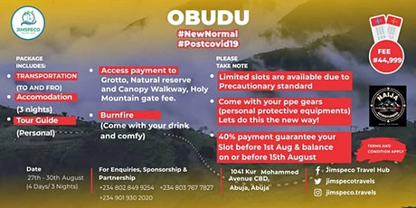 OBUDU #NEWNORMAL #POSTCOVID19 tickets