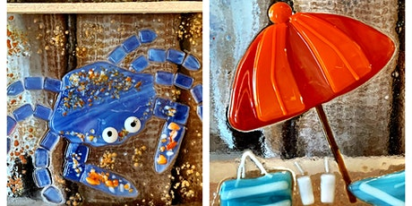 Crab or Umbrella Fused Glass Class tickets