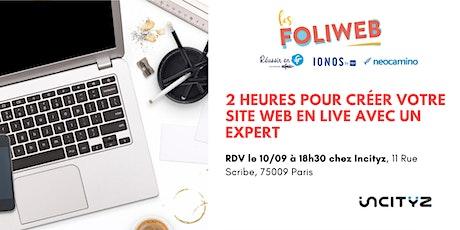 [Paris] 2 heures pour créer votre site web en live avec un expert billets