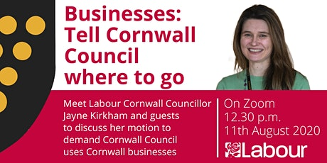 Businesses: Tell Cornwall Council where to go tickets