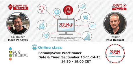 Certified Scrum@Scale Practitioner Course billets
