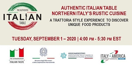 E-MASTERCLASS | Authentic Italian Table - Northern Italy's rustic cuisine tickets