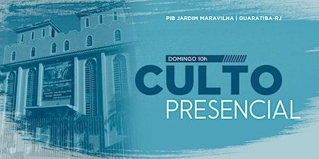 Culto Presencial Domingo Manhã ingressos