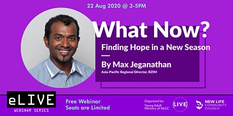 e-LIVE Impact series #2: 'What now? Finding hope in a new season' tickets