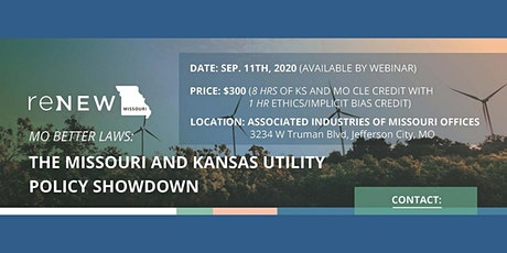 Renew Missouri's End-of-the-Year CLE: The Kansas-Missouri Policy Showdown tickets