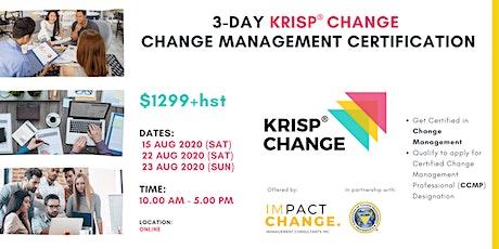 3-Day Change Management Certification - KRISP® CHANGE tickets