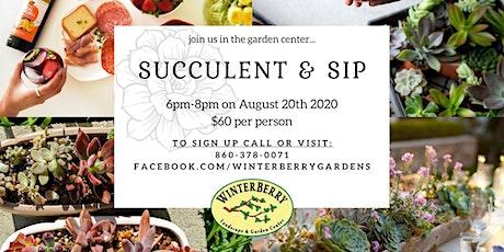 Succulent & Sip tickets