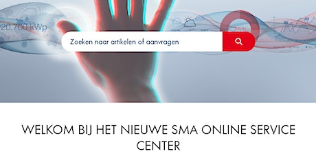 Webinar: SMA Online Service Center 2.0 (NEW) tickets
