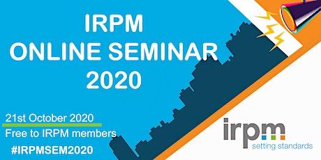 IRPM Online Seminar 2020 tickets