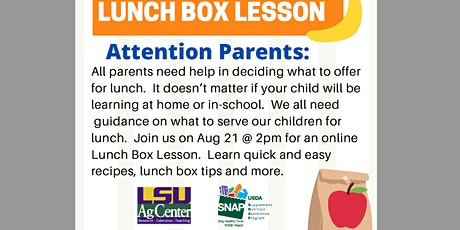 Lunch Box Lesson (Online) tickets