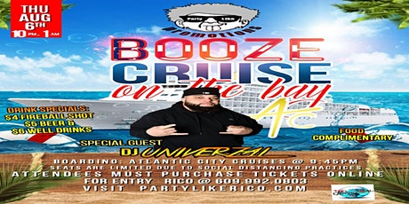 Party Like Rico Promo Booze Cruise on the Bay AC tickets