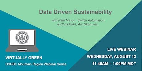 Data Driven Sustainability  tickets