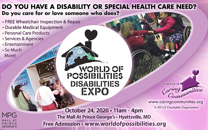 World of Possibilities Disabilities Expo - Prince George's  County 2020 image