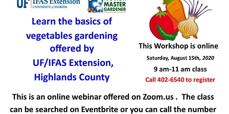 Online Fall Vegetable Growing Class tickets