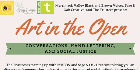 Art in the Open: Conversations, Hand Lettering, and Social Justice tickets