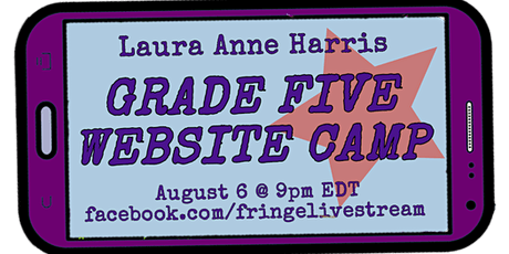 FringeLiveStream  I  GRADE FIVE WEBSITE CAMP tickets