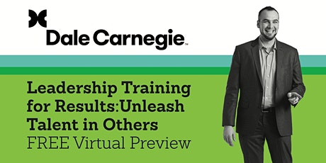 Leadership Training for Results: Unleash Talent in Others – Course PREVIEW tickets
