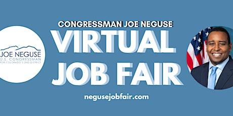 Virtual Job and Resource Fair tickets