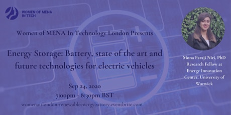 WoMENAIT - Unveiling the future of Renewable Energy - Part 4 Energy Storage tickets