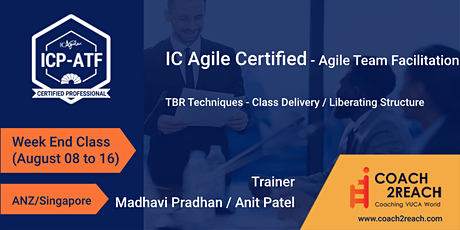 ICAgile ICP-ATF  Agile Team Facilitation Certification(ANZ/Singapore) tickets