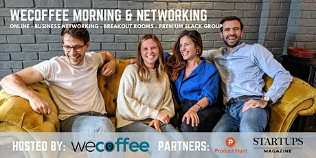 WeCoffee Morning & Networking - Online bilhetes