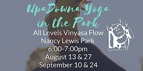 UpaDowna Yoga in the Park tickets