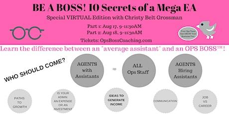 BE A BOSS - 10 Secrets of a Mega EA tickets