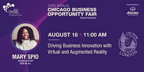 Driving Business Innovation with Virtual and Augmented Reality tickets