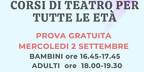 CORSI DI TEATRO PER TUTTE LE ETA' PRESSO L'EX GARAGE (VIA PRENESTINA) biglietti