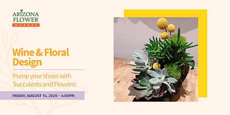 Wine & Floral Design: Pump your shoes with Succulents and flowers! tickets