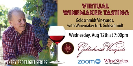 Virtual Wine Tasting with Winemaker Nick Goldschmidt on Zoom tickets