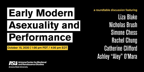 Early Modern Asexuality and Performance: An ACMRS Roundtable tickets