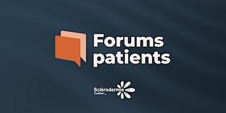 Forums patients 2020 - Prise en charge et suivi médical billets