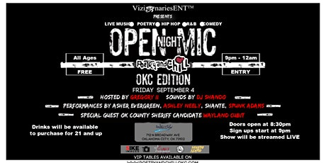 PoetryAndChill Open Mic Nights OKC Edition tickets