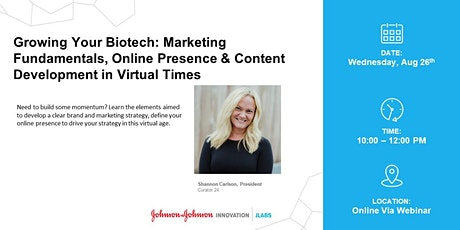 Grow Your Biotech: Marketing Fundamentals, Online Presence & Content Tickets