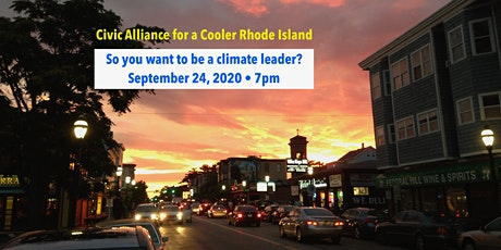 So you want to be a climate leader? A briefing for candidates & staff. tickets