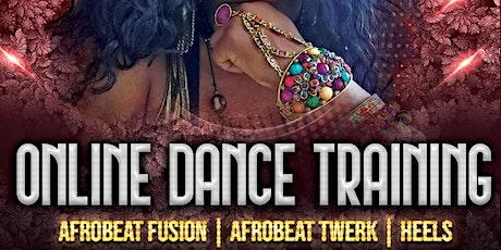 ONLINE BEGINNER AFROBEAT DANCE CLASS tickets