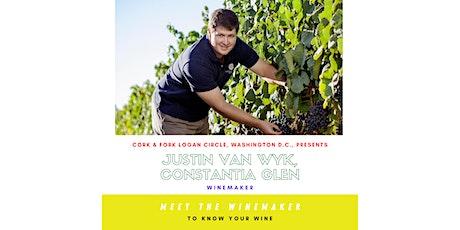 Constantia Glen: Justin Van Wyk, Winemaker tickets