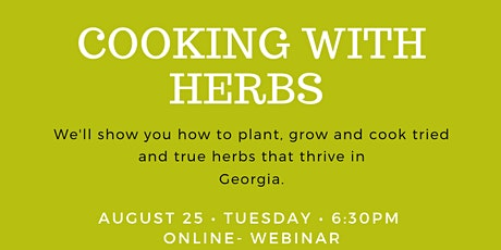 FREE: Cooking With Herbs tickets