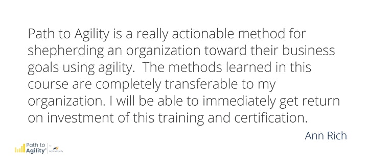 Certified Path to Agility® Facilitator Workshop - LIVE ONLINE image