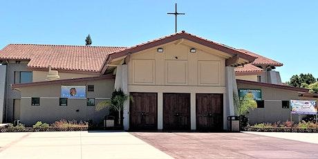 Misas en español AL AIRE LIBRE del mes de agosto tickets